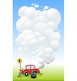 A red car in an accident vector image vector image