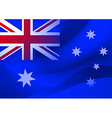 abstract australian flag in the wind vector image vector image