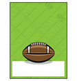 american football flyer template vector image vector image