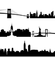 Architecture of New York vector image