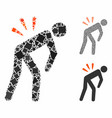 backache composition icon trembly items vector image vector image