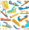 background with summer women shoes vector image vector image