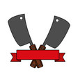 barbecue knives utensils emblem vector image