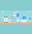 bathroom and plumbing concept vector image