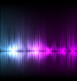 blue-purple wave abstract equalizer background vector image vector image
