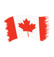 brushstroke painted flag canada vector image