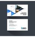 business card template with triangles vector image vector image
