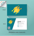 business name card template vector image vector image