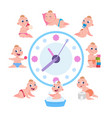 cartoon baby routine kid daily cycle child
