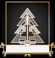 Christmas and New Year background card design with vector image