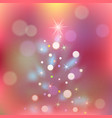 christmas background with xmas tree and vector image vector image