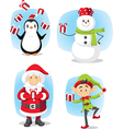 Christmas Characters Set Cartoon vector image
