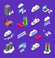 cloud gaming icons set vector image