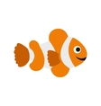 Clownfish flag icon flat style vector image vector image