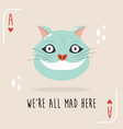 colorful composition with cheshire cat from alice vector image vector image