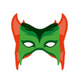colorful silhouette with festive mask with horns vector image vector image