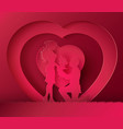 couple in the heart shape vector image vector image