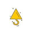 crane icon design vector image vector image