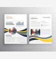 creative annual report business brochure design vector image