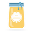 crystallized honey in a jar flat isolated vector image vector image