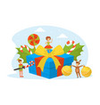 cute tiny kids celebrating holiday wearing vector image vector image