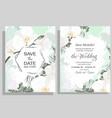 delicate floral wedding design silver polygonal vector image vector image
