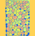 doodle shell background psychedelic surreal vector image