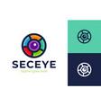 eye security logo creative logo design vector image vector image