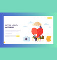 family health insurance policy sign landing page vector image vector image