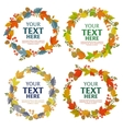 floral wreath autumn leaves vector image