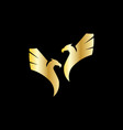flying eagle bird wings abstract logo vector image vector image