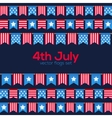Fourth July USA Independence Day flags vector image vector image