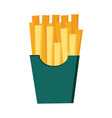 french fries fast food vector image vector image