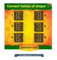 game connect halves of shape vector image vector image