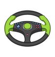 game steering wheel single icon in cartoon style vector image vector image