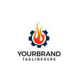 gas and oil logo design concept template vector image