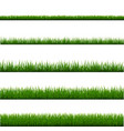 green grass frame set and isolated white vector image vector image