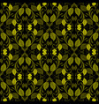 green vintage leaves seamless pattern ornamental vector image