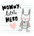hero bunny vector image vector image