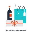 holidays shopping vector image vector image