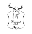hunting club badge vector image