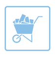 Icon of construction cart vector image