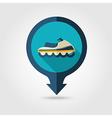 Jet Ski pin map flat icon Summer Vacation vector image vector image