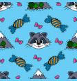 kids cartoon seamless pattern skarpbuking vector image
