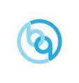 linked circle object letter bq logo vector image vector image