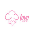 love chef logo design inspiration vector image vector image
