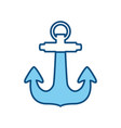 marine anchor symbol vector image vector image