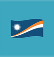 marshall islands flag icon in flat design vector image vector image