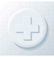 Medicine 3D Paper Icon vector image