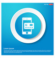 mobile and credit card icon vector image vector image